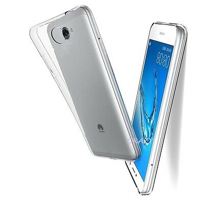 Soft Gel Clear Transparent Case Cover For Huawei Y7