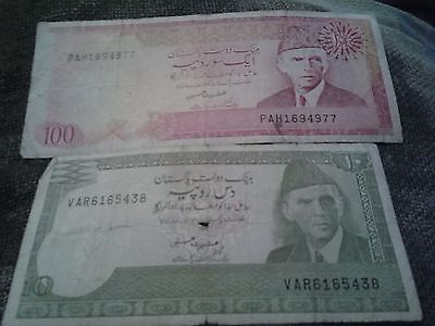 STATE BANK OF PAKISTAN 10 and 100 RUPESS