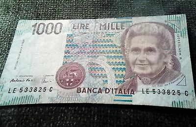 1000 LIRE MILLE 1990 ITALY Bank note