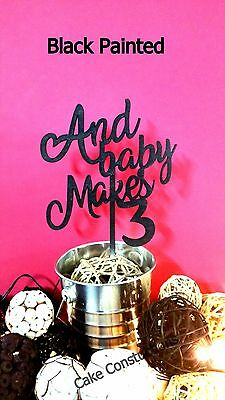 Light Gold Oh Baby Shower Wooden Cake Sign Topper Gender Decoration