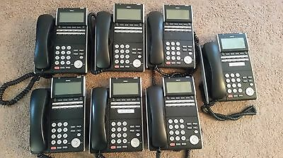 LOT OF 7 NEC Univerge DT700 ITL-12D-1 ILV(XD) Z-Y VOIP Office Phone Black