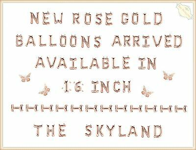 """16"""" 40cm Rose Gold Foil Letter Number Balloons Birthday Wedding Party Decoration"""