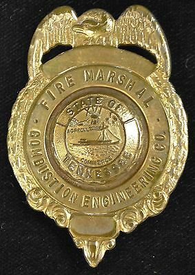 Combustion Engineering Co., State of Tennessee, Fire Marshal Badge