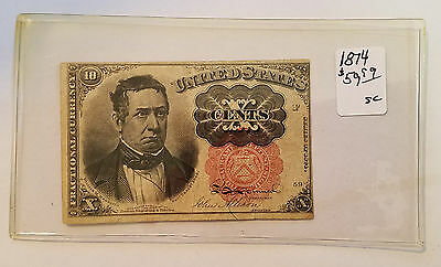 1874 10 Cent Fractional Currency - 5th Issue - Free Shipping - Lot 3