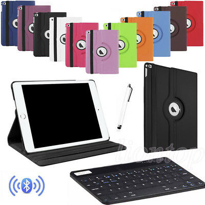 Bluetooth Keyboard + 360° Rotating Leather Case For iPad Air 2 3 4 Mini Pro 2017