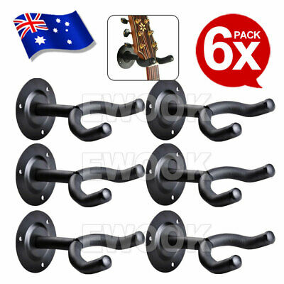 6X Soft Rubber Foam Padded Guitar Wall MountHanger Bracket Hook Mount Holder