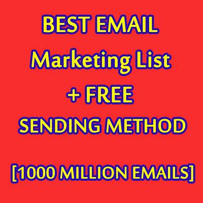 1000.000 U.S.A Business Database and Mailing Email List for EMAIL MARKETING