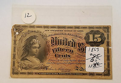 1863 15 Cent Fractional Currency - 4th Issue - Free Shipping #2