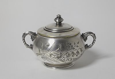 Silver sugar bowl with lid. Soviet Union (Russia).