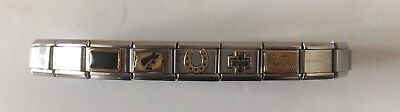 Genuine 19 Link Nomination Bracelet Including 5 Charms
