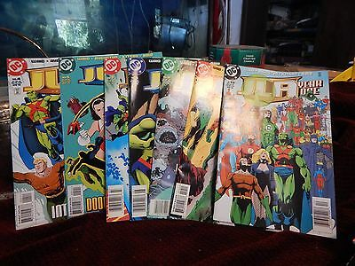 Lot Of 7 , 1998 DC Comics JLA YEAR ONE  4 5 7 8 9 10 12  JUSTICE LEAGUE