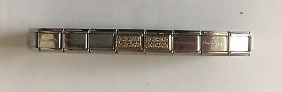 Genuine Nomination Bracelet Pre-Owned 19 Link Including 2 Charms