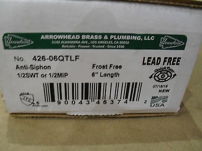 "Arrowhead Brass 426-06QTLF Lead free 6"" outdoor faucet Sill cock Frost free"