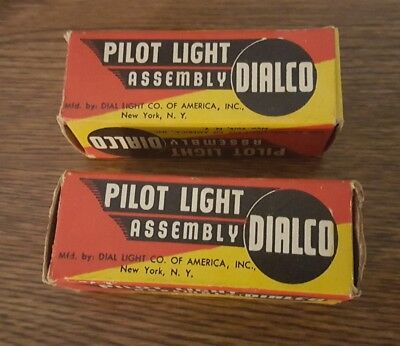 2 Red Dialco Pilot Lights with box *untested*