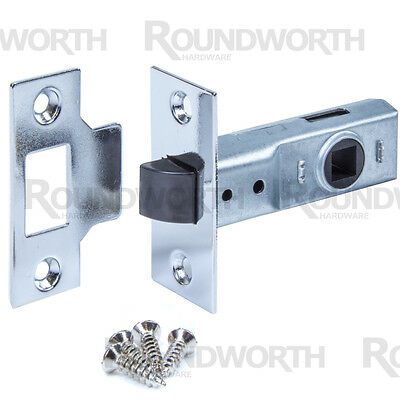 YALE Internal Mortice Latch 64mm POLISHED CHROME Nylon Catch Quiet Close Door
