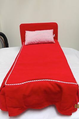 1990 Pleasant Company AMERICAN GIRL Molly Original Red Bed Wood Frame  Retired