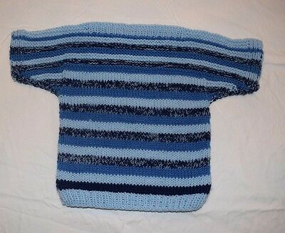 Blue Hand Knit Child's Sweater Vintage