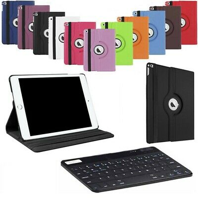 For iPad 2018 Mini Air 2 3 4 Pro 10.5 Bluetooth Keyboard+360 Rotating Case Cover