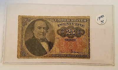 1874 25 Cent Fractional Currency - 5th Issue - Free Shipping - Lot 1