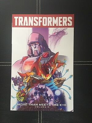 Transformers: More Than Meets the Eye Volume 10 by James Roberts Paperback Book