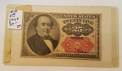 1874 25 Cent Fractional Currency - 5th Issue - Free Shipping - Lot 11