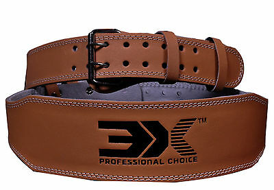 """Weight Lifting Belt REX Leather 4"""" Lower Lumber Back Support Training Gym"""