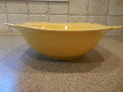 "Vintage Fiesta/Riviera Yellow 8"" Nappy Vegetable Serving Bowl by Homer Laughlin"