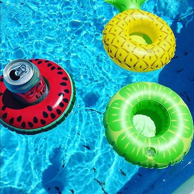 New 3PC Beverage Boat Inflatable Cup Drink Can Holder Pool Float -BigMouth