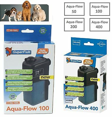 Superfish Aqua-Flow Filter Fish Tank Spray Bar Internal Power Aquarium Filter