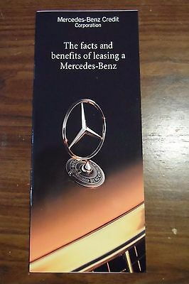 1992 Mercedes-Benz Credit Corporation Leasing Brochure Nice Pics Cheap