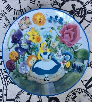 Alice In Wonderland Collectors Plate Flower Garden