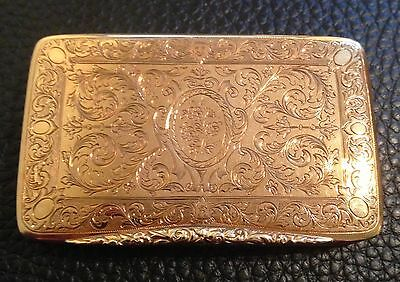 18ct Solid Gold Snuffbox- Chinese Export Market c1880-1890
