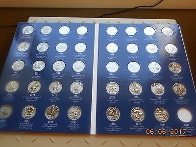 2010-2017 America The Beautiful National Parks Quarters Complete Set 40 Coins