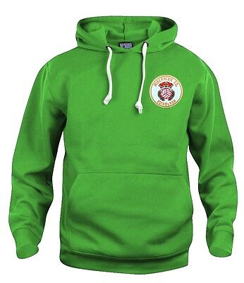 Retro Hibernian Hibs 1980s Football Hoodie New Sizes S-XXXL Embroidered Logo