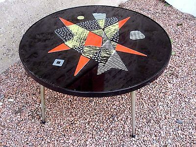 table basse ronde DESIGN éditions EFA 1960 Diamètre 72 cm