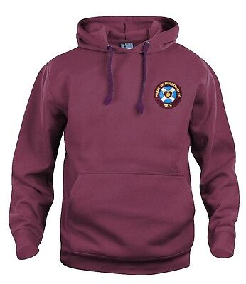Retro Heart of Midlothian Hearts 1950's Football Hoodie S-XXXL Embroidered Logo