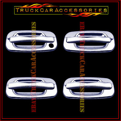 For CHEVY Suburban 2000-2003 2004 2005 2006 Chrome 4 Door Handle Covers WITHOUT