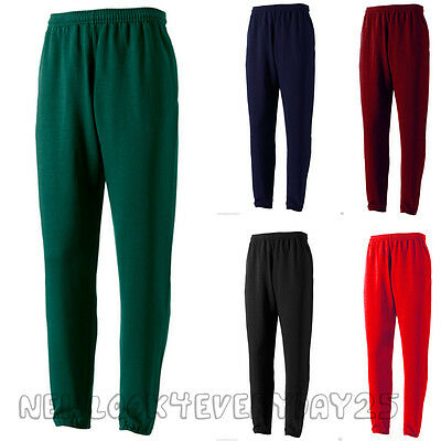 Boys Girls Kids School Uniform Playing Fleece Jogging Tracksuit Bottoms Trousers