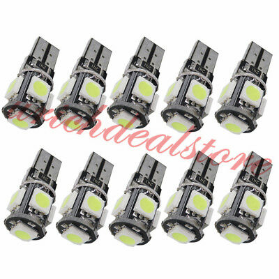 KFZ Auto 10 LED Weiß T10 LED T10 W5W 5x5050 SMD Innenraumbeleuchtung 12V