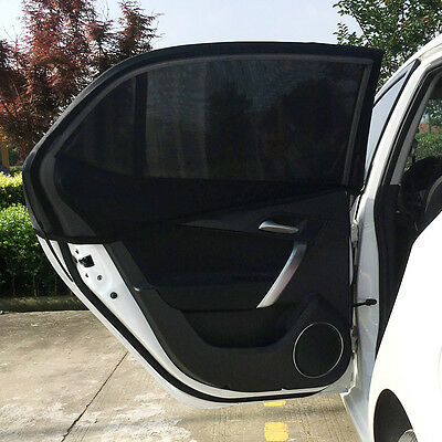Univesal 2x Car Rear Window UV Mesh Sun Shades Blind Kids Child Sunshade Blocker