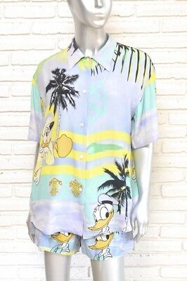 Vintage Women's Short Set By Iceberg Donald Duck 2 Piece Shorts Blouse 6 To 8