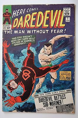 DAREDEVIL #7 (Marvel 1965) 1st Red Costume (GD/VG)