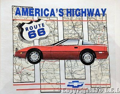 Vintage 90's Chevy Chevrolet Corvette Iron On Display Picture Poster Sheet