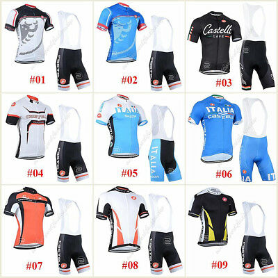 Many Style Short Sleeve Jersey Bib Pant Bicycle Team Sport Cycling Clothing Sets
