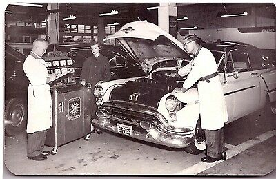 1955 OLDSMOBILE Lube/Maintenance Card with PHOTO