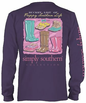 Bucket List Of Southern Life Simply Southern Cotton Long Sleeve Tee Shirt