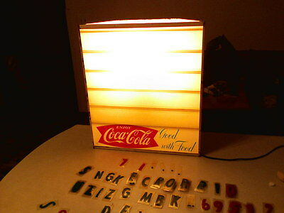 VINTAGE Lighted CocaCola menu sign  Rare!! WAS ONLY USED BETWEEN 1958-1965