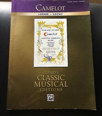Camelot Lerner & Loewe Musical Vocal Score Piano Sheet Music 14 Songs Book
