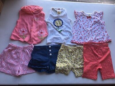 Girls Clothes Size 3T Tops Shorts Fisher Price Lot #8