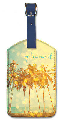 New York by Luc Bayle Pacifica Island Art Leatherette Luggage Baggage Tag